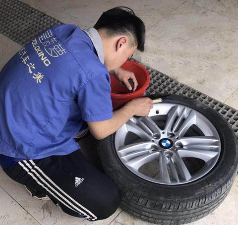 宝马汽车轮毂修复