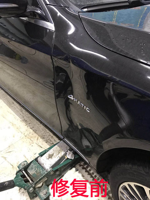 汽车无痕凹陷修复前