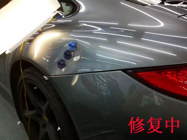 汽车无痕凹陷修复中1